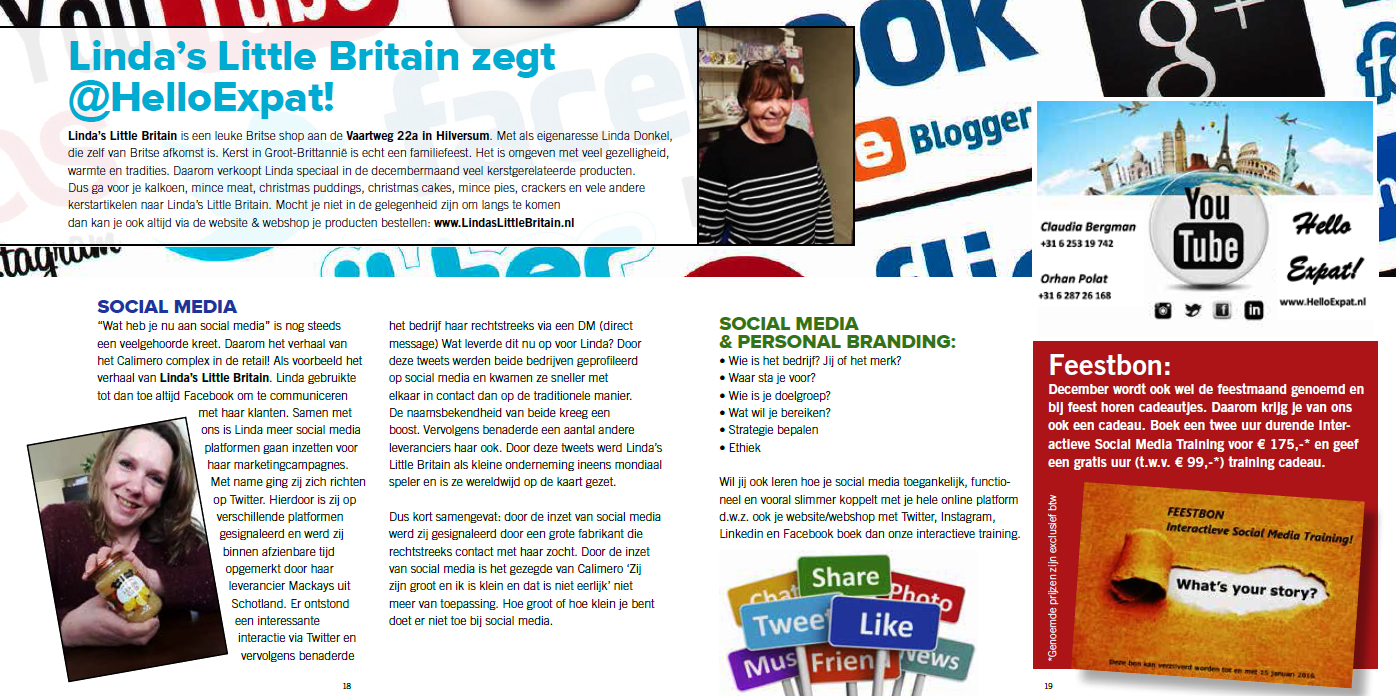 Linda's Little Britain zegt @HelloExpat! - 't Gooi Bruist - december
