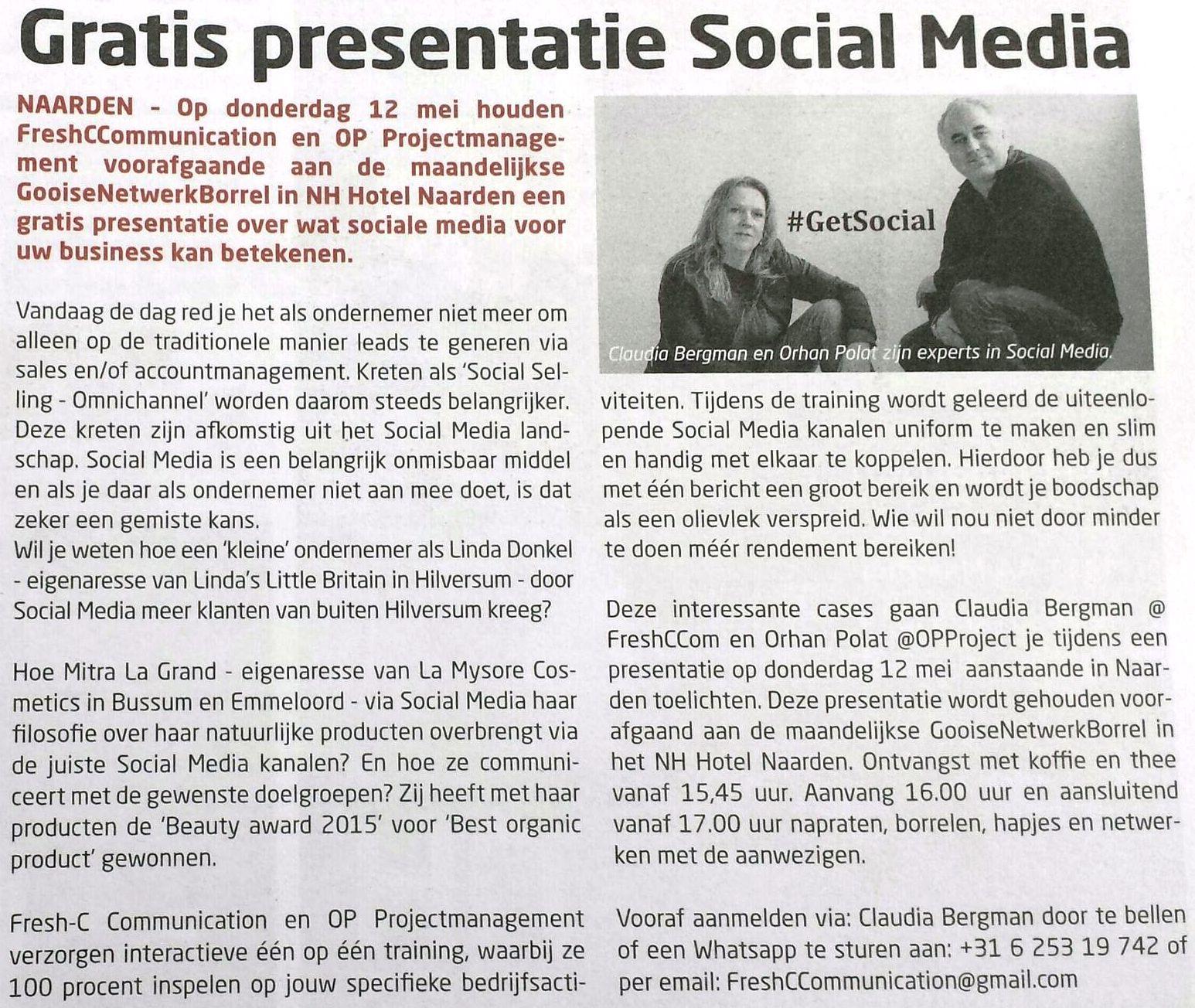 Wat Social Media voor uw business kan betekenen - Gooi Zaken